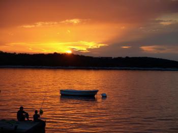 Zachód słońca nad Adroatykiem