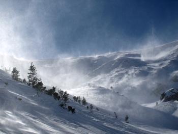 Wiatr w Tatrach